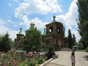 Holy Trinity Orthodox Cathedral in Karakol Turkestan Yurt Camp Kirgistan by Birgit Strauch Shiatsu ThetaHealing