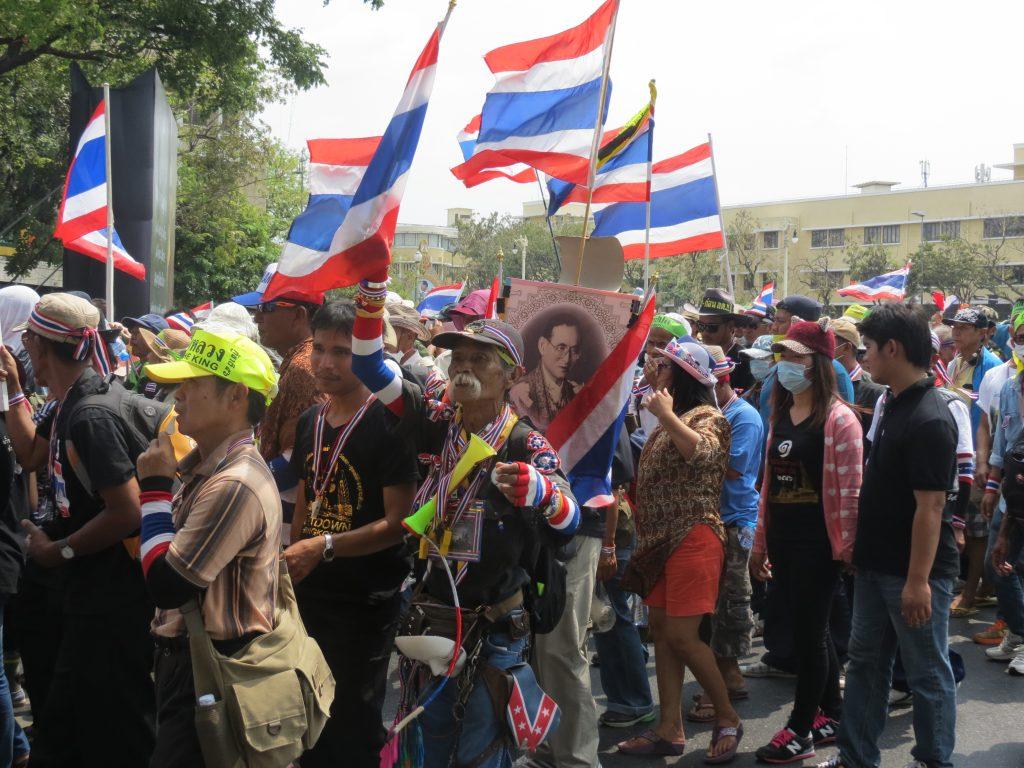 Demonatrstion in Bangkok Februar 2014 by Birgit Strauch Thaimassage & Bewusstseinscoaching