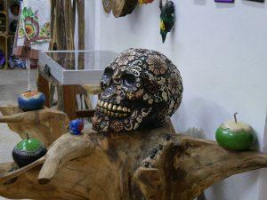 Totenkopf Traumfänger Bacalar Lagune Mexiko by Birgit Strauch Shiatsu & Bewusstseinscoaching