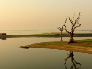 Baum U Bein Brücke Mandalay Sonnenaufgang by Birgit Strauch Bewusstseinscoaching & Shiatsu