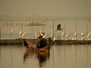 Fischer U Bein Brücke Mandalay Sonnenaufgang by Birgit Strauch Bewusstseinscoaching & Shiatsu