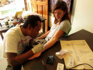 Tattoo Pho Cho Shan Ink Nyaung Shwe Myanmar by Birgit Strauch Shiatsu & Bewusstseinscoaching