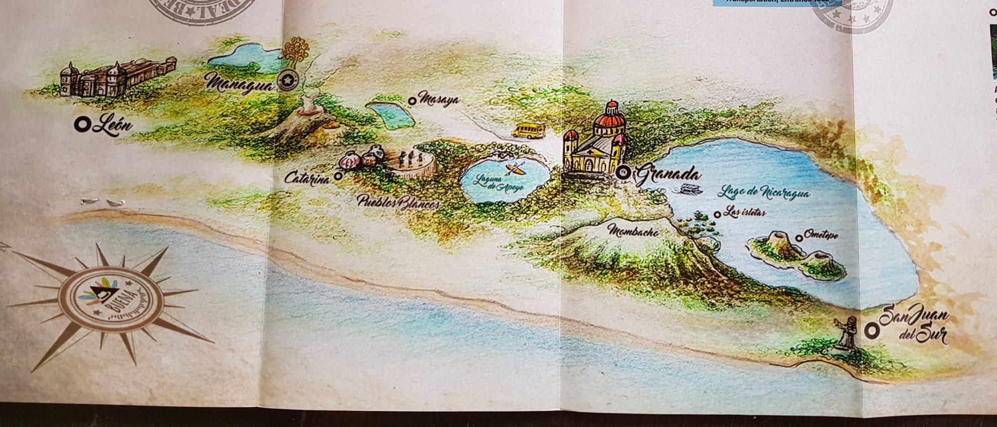 Karte von der Umgebung von Granada by Birgit Strauch Bewusstseinscoaching und Shiatsu