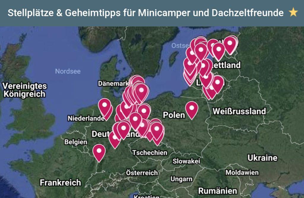 Geheimtipp Minicamper Stellplätze by Birgit Strauch
