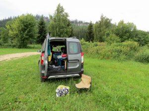 Minicamper Stellplatz bei der Felsenstadt Adersbach Tschechei by Birgit Strauch Bewusstseinscoaching & Shiatsu