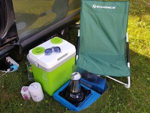 Minicamper Tour nach Seredzius an der Memel auf dem Campingplatz by Birgit Strauch