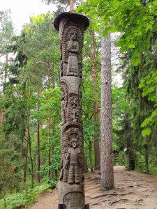 Minicamper Tour Raganu Kalnas (Hill of Witches): Der Märchenpfad am Hexenberg Juodkrante Kurische Nehrung by Birgit Strauch