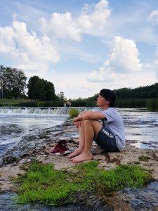 Mit dem Minicamper nach Kuldiga zum Venta Wasserfall by Birgit Strauch