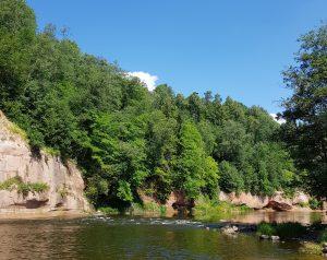 Mit dem Minicamper zum Kuku Felsen im Gauja Nationalpark by Birgit Strauch