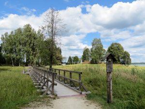 Minicamper Stellplatz im Plateliai See im Zemaitija Nationalpark by Birgit Strauch
