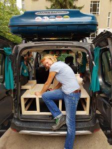 Dacia Dokker Minicamper Hochdachkombi Ausbau Wohnmobil Ausbau by Birgit Strauch