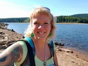 Flaje Stausee Tschechien mit dem Minicamper by Birgit Strauch