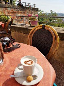 Meißen Cappuccino mit dem Minicamper by Birgit Strauch