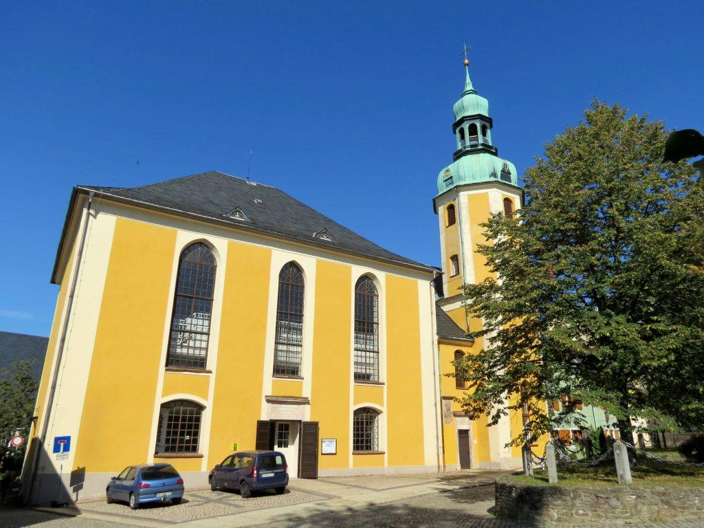 St. Bartholomäus Kirche in Wolkenstein by Birgit Strauch