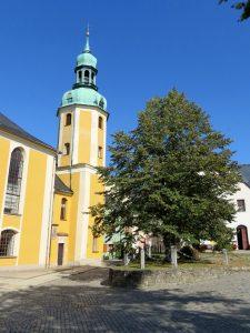 Bartholomäus Kirche in Wolkenstein by Birgit Strauch