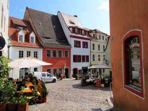 Altstadt Meißen mit dem Minicamper by Birgit Strauch