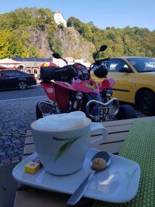 Cafe Burgblick in der Wolfsschlucht in Wolkenstein by Birgit Strauch