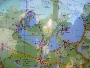 Karte Gussow Dolgensee by Birgit Strauch