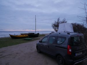 Minicamper Tour und Eisschollen in Chalupy by Birgit Strauch