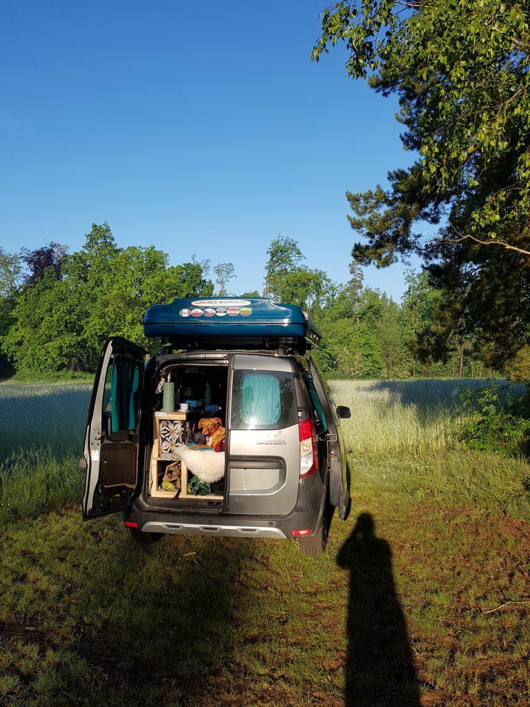 Mit dem Dachzelt in Brandenburg by Birgit Strauch