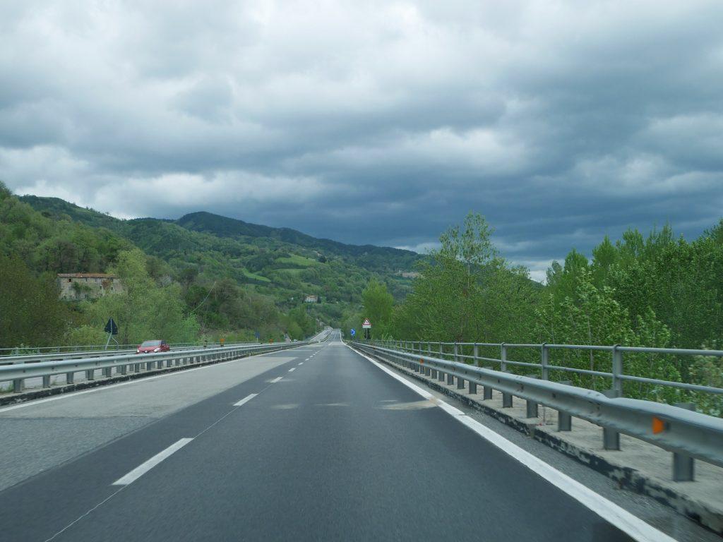 Fahrt vom Pratomagno ins Po Delta by Birgit Strauch