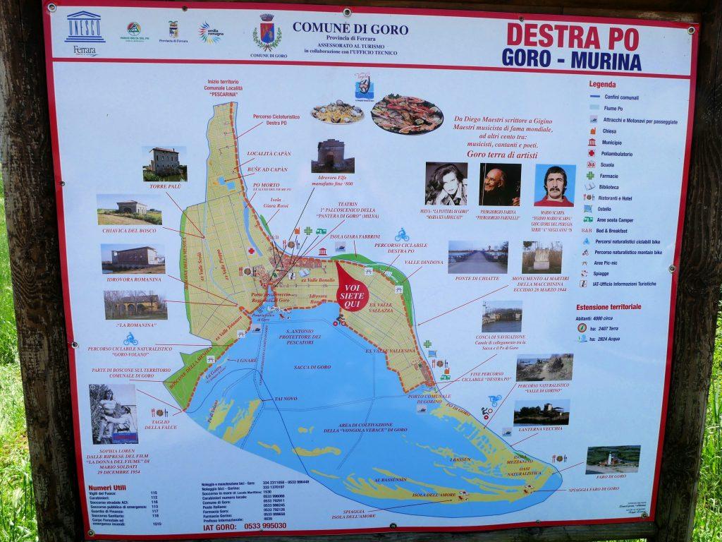 Radtour in Goro im Po Delta
