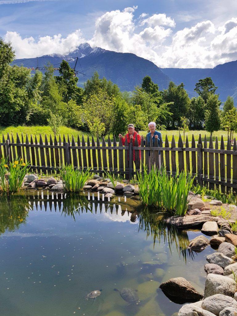 Park im Dorf Tirol by Birgit Strauch