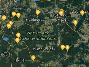 Freistehen im Naturpark Dahme Heideseen by Birgit Strauch