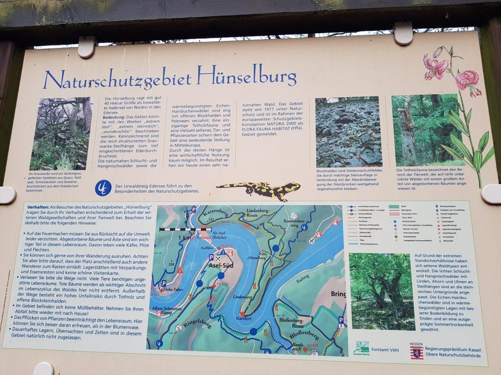 Wandern am Edersee im NSG Hünselburg