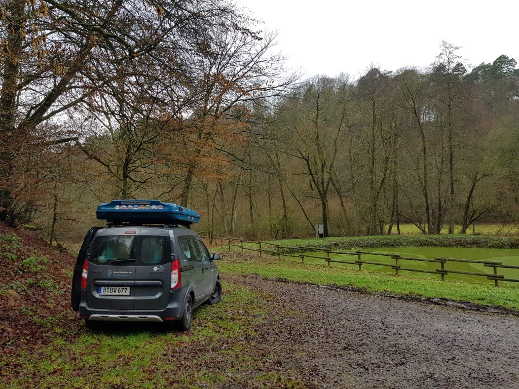 Wanderparkplatz Wildcamping Edersee