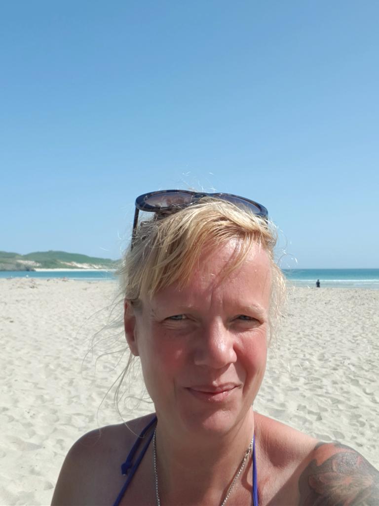 Mit dem Dachzelt am Balnakeil Beach by Birgit Strauch