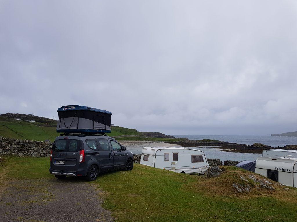 Camping Scourie in Schottland by Birgit Strauch