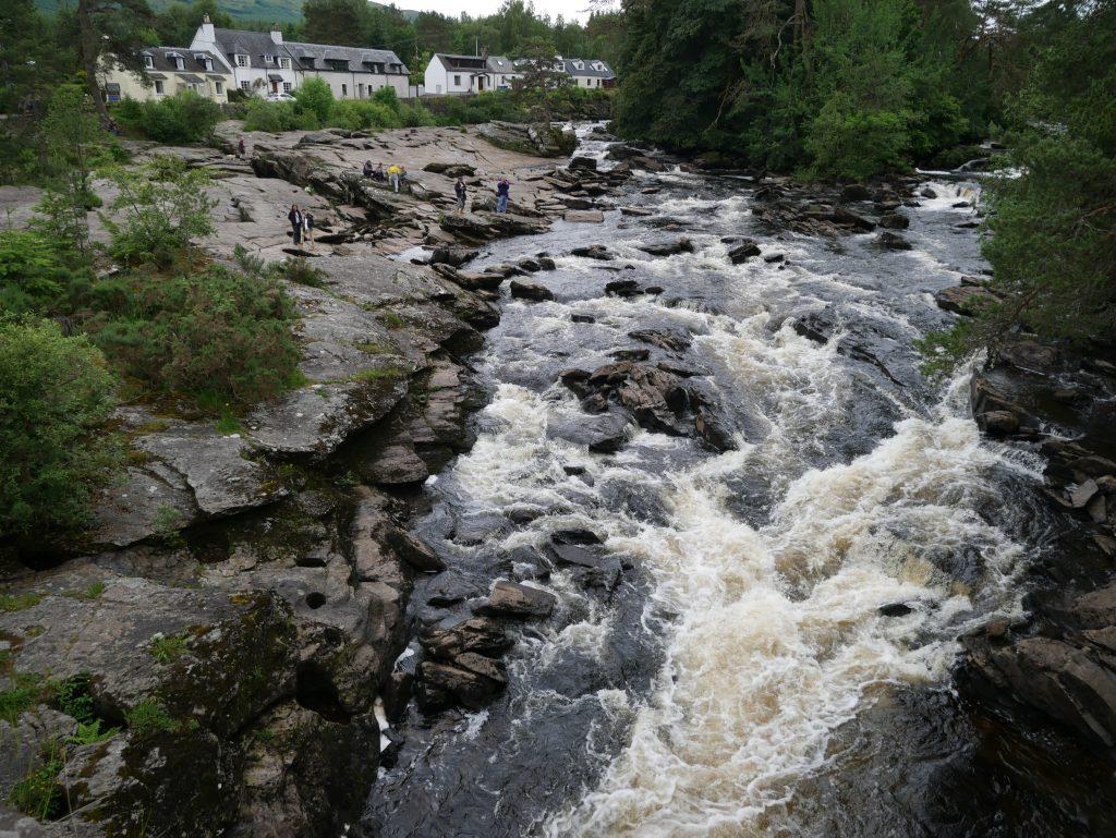 Falls of Dochart by Birgit Strauch